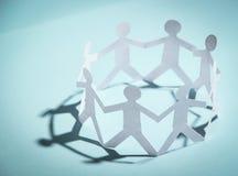 Gruppo di persone le mani della holding Immagine Stock Libera da Diritti