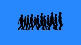 Gruppo di persone le siluette di camminata illustrazione vettoriale