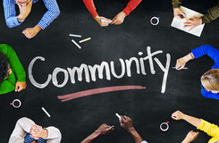 Gruppo di persone Multi-etnico i concetti della Comunità e fotografia stock libera da diritti