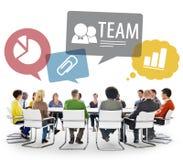 Gruppo di persone multietnico Team Meeting Immagini Stock
