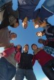 Gruppo di persone nel cerchio Immagini Stock