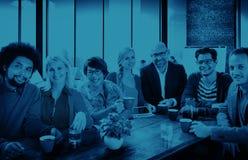 Gruppo di persone Team Study Group Diversity Concept allegro Fotografia Stock Libera da Diritti