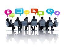 Gruppo di persone in una riunione fotografia stock libera da diritti