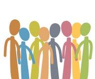 Gruppo di persone vario Immagini Stock