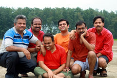 Gruppo di picnickers Fotografia Stock Libera da Diritti