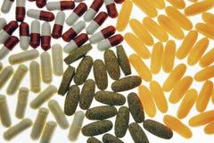 Gruppo di pillole Fotografie Stock