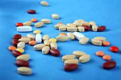 Gruppo di pillole Fotografia Stock Libera da Diritti