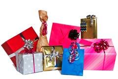 Gruppo di presente del regalo tagliati Immagine Stock