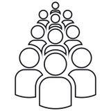 Gruppo di profili di dieci persone illustrazione vettoriale