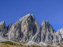 Gruppo di Puez al passaggio di Gardena, Tirolo del sud, Italia Fotografia Stock