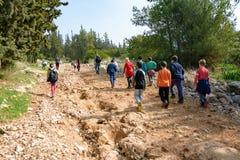 Gruppo di quarti bambini della scuola elementare di Isaraeli Fotografie Stock Libere da Diritti