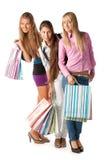 Gruppo di ragazze di acquisto Fotografie Stock