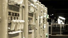 Gruppo di regolazione elettrico di fabbrica Fotografia Stock
