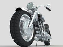 Gruppo di retro motociclo del microphonescustom su fondo leggero Fotografia Stock