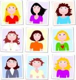 Gruppo di ritratti femminili Fotografia Stock