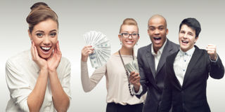 Gruppo di riuscita gente di affari Immagini Stock