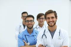 Gruppo di riusciti medici Isolato su bianco Fotografia Stock Libera da Diritti