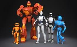 Gruppo di robot Fotografia Stock Libera da Diritti