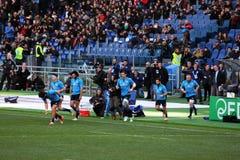 Gruppo di rugby dell'Italia Fotografia Stock