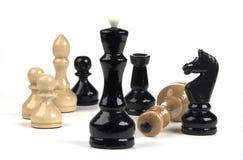 gruppo di Scacchi-serie di figurines Fotografia Stock Libera da Diritti