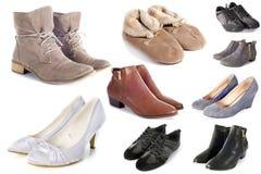 Gruppo di scarpe Fotografia Stock