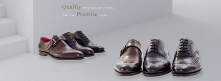 Gruppo di scarpe degli uomini Fotografia Stock