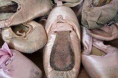 Scarpe di Pointe Immagini Stock