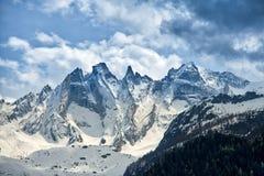 Gruppo di Scior nelle alpi di Rhaetian in Svizzera Immagine Stock Libera da Diritti