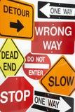 Gruppo di segnali stradali Immagini Stock