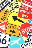 Gruppo di segnali stradali Fotografia Stock Libera da Diritti