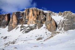 Gruppo di Sella, regione di sci in Italia Immagine Stock Libera da Diritti