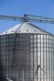 Gruppo di silos di grano nell'Uruguay con cielo blu Immagine Stock Libera da Diritti