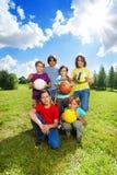 Gruppo di sport Fotografie Stock Libere da Diritti
