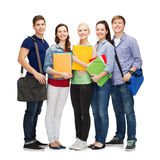 Gruppo di stare sorridente degli studenti Immagine Stock Libera da Diritti