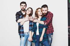 Gruppo di studenti felici del youg Fotografia Stock Libera da Diritti
