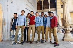 Gruppo di studenti indiani a Jaipur Fotografia Stock
