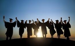 Gruppo di studenti internazionali che celebrano Immagini Stock