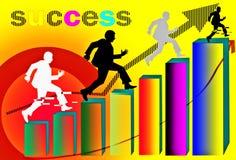 Gruppo di successo di affari dell'uomo Immagine Stock Libera da Diritti