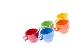 Gruppo di tazze del tè Fotografia Stock