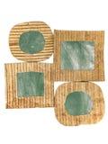Gruppo di telai in bianco del cartone di lerciume della lavagna isolati su bianco Immagine Stock Libera da Diritti