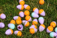 Gruppo di terminali dell'uovo di Pasqua Immagini Stock Libere da Diritti