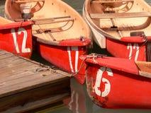 Gruppo di terminali della canoa Fotografie Stock Libere da Diritti