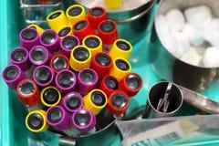 Gruppo di tubo dell'esemplare del sangue per le analisi del sangue fotografie stock libere da diritti