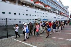 Gruppo di turisti giapponesi Fotografie Stock Libere da Diritti