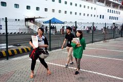 Gruppo di turisti giapponesi Fotografia Stock Libera da Diritti