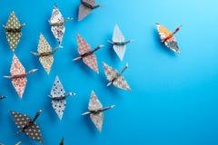 Gruppo di uccelli di Origami Immagine Stock