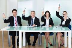 Gruppo di ufficiali di assunzione di occupazione Immagine Stock