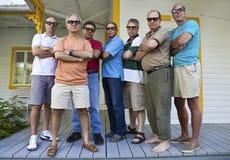 Gruppo di uomini seri Fotografia Stock