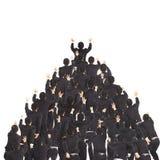 Gruppo di uomo d'affari che corre insieme in avanti Fotografia Stock Libera da Diritti