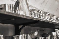 Gruppo di vecchi strumenti della cucina Fotografie Stock Libere da Diritti